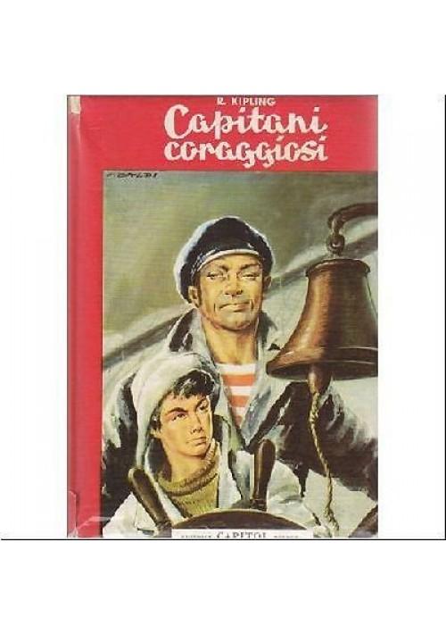 CAPITANI CORAGGIOSI di Rudyard Kipling - 1962 ILLUSTRATO a colori da F. Baldi