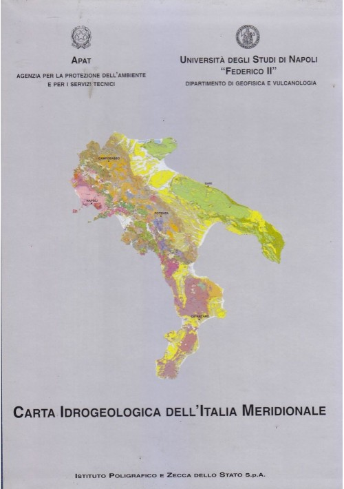 CARTA IDROGEOLOGICA DELL'ITALIA MERIDIONALE + note illustrative 2 Volumi *