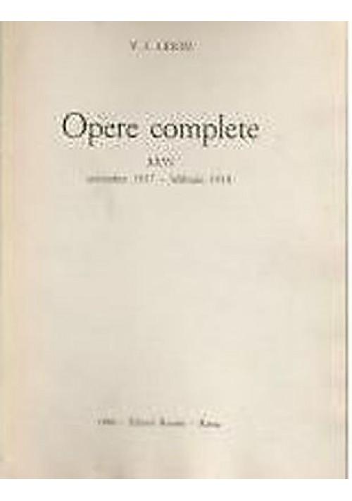CARTEGGIO febbraio 1912 – dicembre 1922 di Lenin volume XXXV opere - comunismo