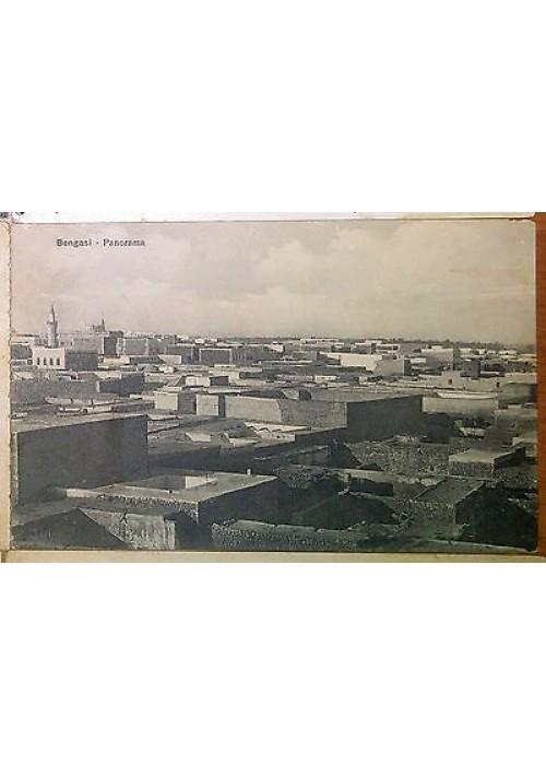 CARTOLINA BENGASI - PANORAMA  - viaggiata 28/02/1912 - originale d epoca