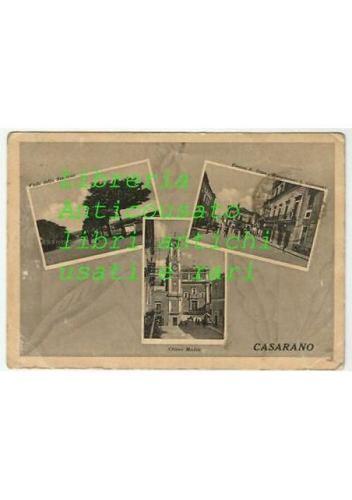 CARTOLINA CASARANO (LECCE) VIAGGIATA  piazza Diaz chiesa madre viale stazione