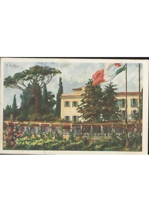 CARTOLINA CROCE ROSSA ITALIANA istituto Cesare Battisti - illustrata da Spoltona
