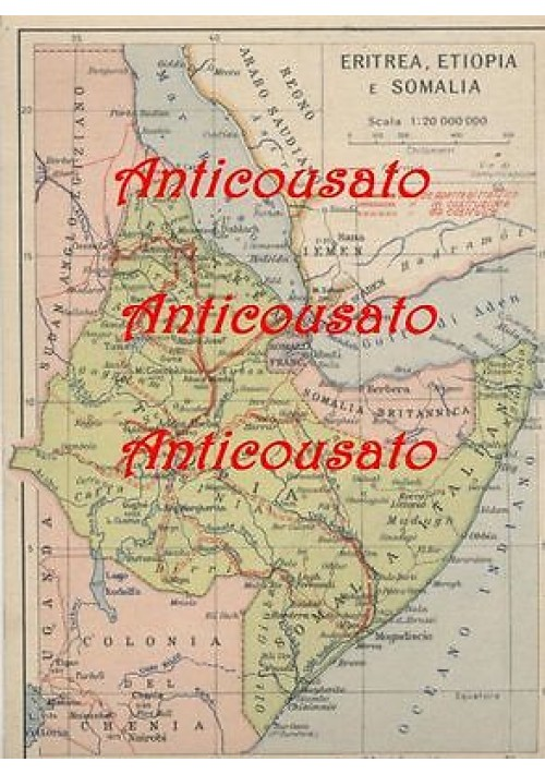 CARTOLINA ERITREA ETIOPIA SOMALIA non viaggiata AFRICA