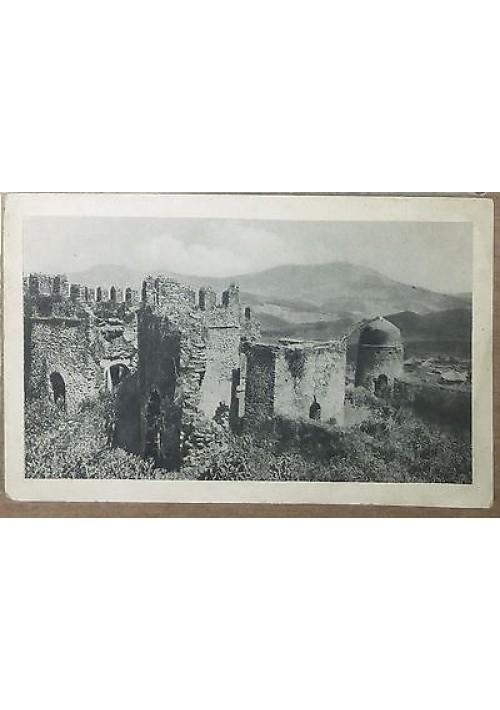CARTOLINA ERITREA GONDAR ruderi del castello portoghese viaggiata 1935