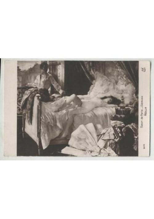 CARTOLINA EROTICA Salon de Paris : Gervex  - Rolla - ORIGINALE non viaggiata