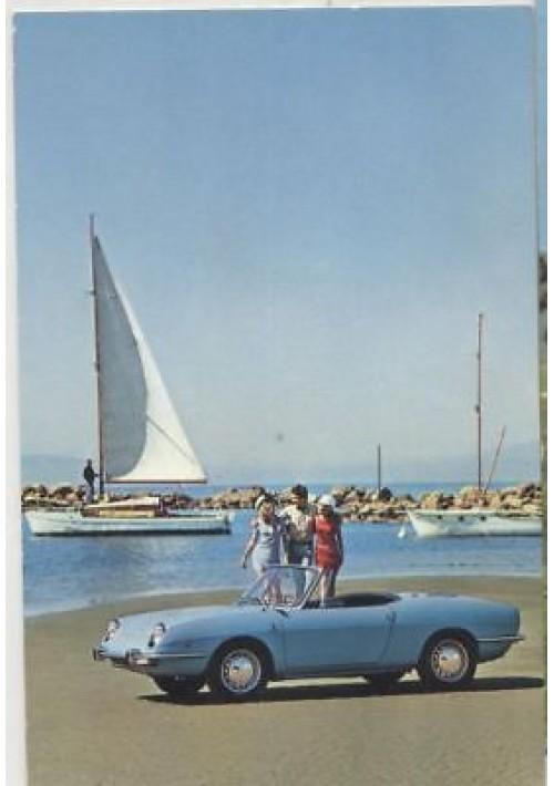 CARTOLINA FIAT 850 SPORT SPIDER presum. anni '60 non viaggiata colori ORIGINALE