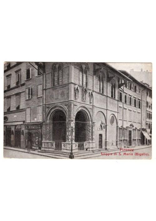 CARTOLINA FIRENZE LOGGIA DI S. MARIA BIGALLO viaggiata 1915 formato piccolo