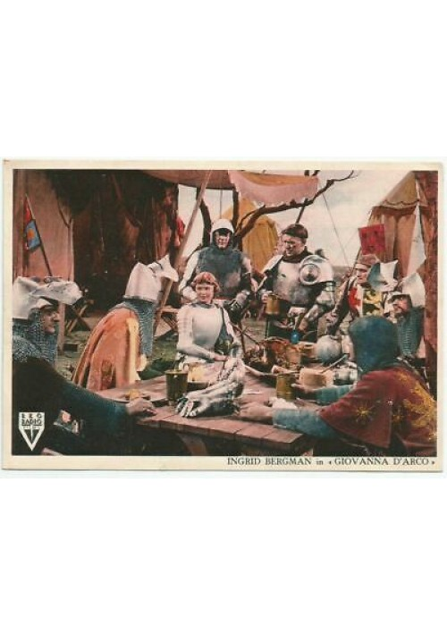 CARTOLINA INGRID BERGMAN nel film Giovanna D'Arco - postcard movie