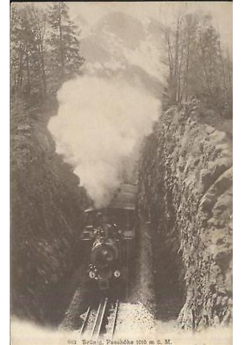 CARTOLINA LOCOMOTIVA - BRUNIG PASSHOHE 1909 - TRENO