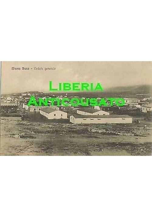 CARTOLINA MARSA SUSA - VEDUTA GENERALE non viaggiato Libia originale anni '20