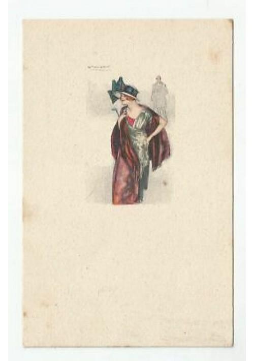 CARTOLINA MAUZAN VIAGGIATA 28/03/1917 ILLUSTRATA A COLORI - ORIGINALE
