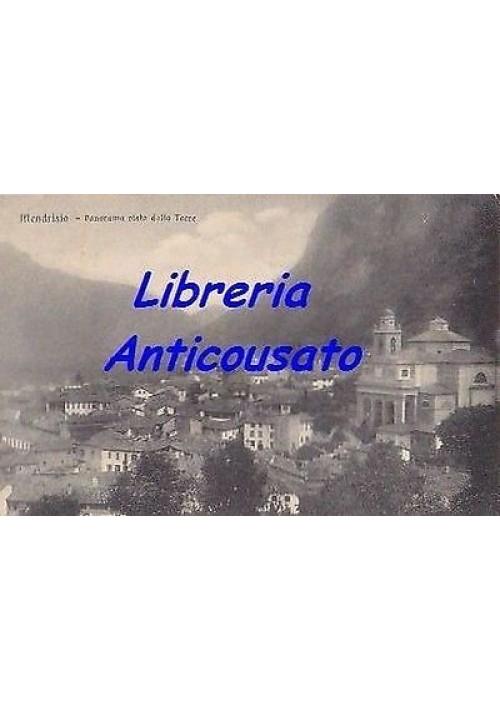 CARTOLINA MENDRISIO PANORAMA VISTO DALLA TORRE - VIAGGIATA 08/09/1913 ORIGINALE