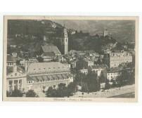 CARTOLINA Merano casinò e panorama - viaggiata 14/04/1930 b/n formato piccolo