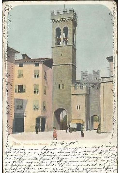 CARTOLINA RIVA DEL GARDA Porta San Michele 1902 viaggia