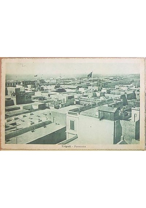 CARTOLINA TRIPOLI panorama Moschea Caramanli VIAGGIATA 1920