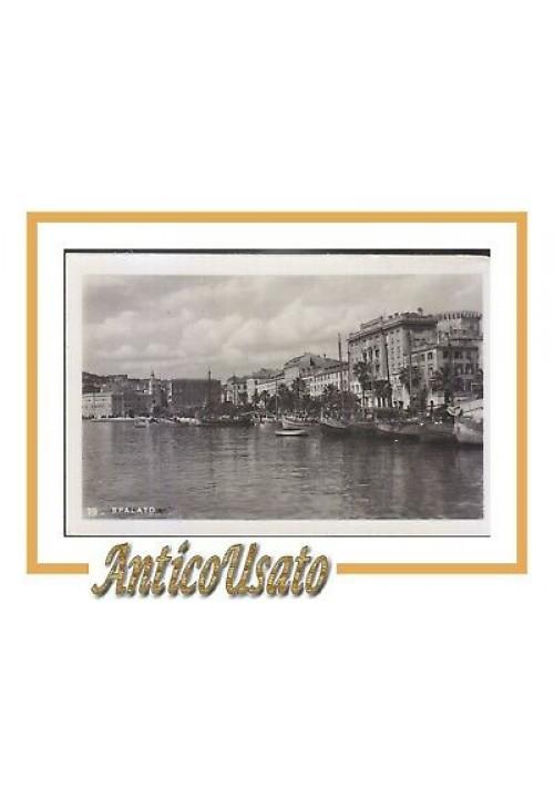 CARTOLINA fotografica SPALATO panorama non viaggiata Originale vintage Split
