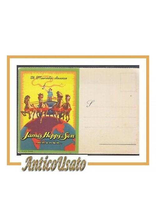CARTOLINA pubblicitaria JAMES HOPPS il marsala classico originale vintage Mazara