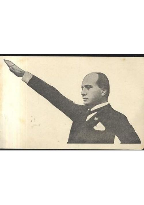 CARTONCINO MUSSOLINI  originale anni '40