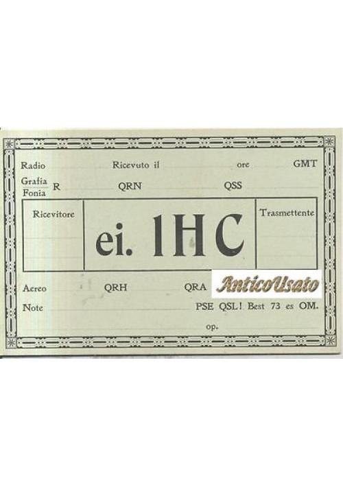 CARTONCINO RADIO AMATORI cartolina (?) anni '30 QRH QRA radioamatore