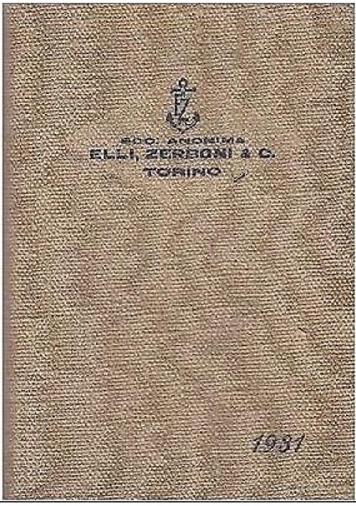 CATALOGO DEGLI UTENSILI DA TAGLIO ANNO 1931 Zerboni - Alfieri e Lacroix  1931