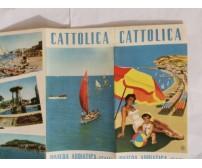 CATTOLICA Depliant Turistico Advertising Brochure RIVIERA ADRIATICA Enit ANNI 60