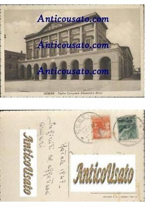 CESENA TEATRO COMUNALE BONCI CARTOLINA VIAGGIATA 1947 ORIGINALE formato piccolo