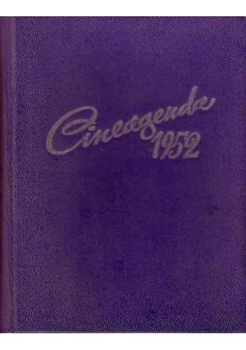 CINEAGENDA 1952 - edizioni S.A.E.T  1952