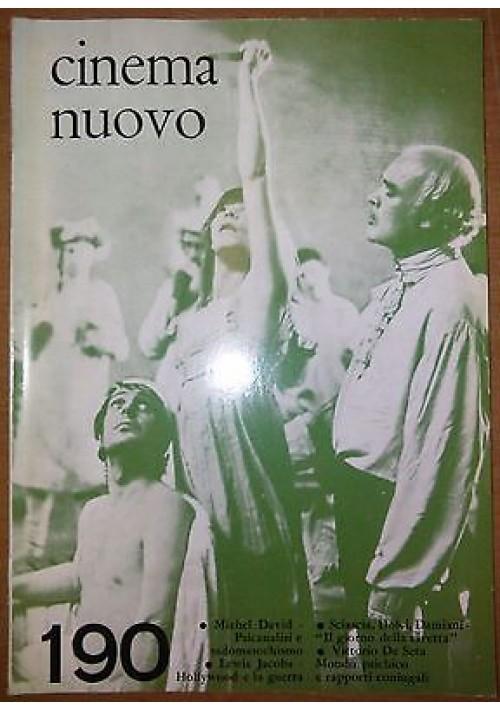 CINEMA NUOVO N 190 Lewis Jacobs Sciascia Dolci Damiani novembre dicembre 1967