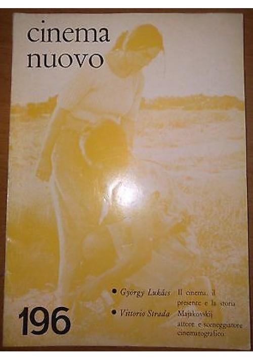 CINEMA NUOVO N 196 Majakovskij attore e sceneggiatore  novembre dicembre 1968