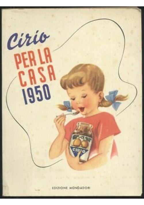 CIRIO PER LA CASA 1950 agenda ricette rara SENZA SCRITTE