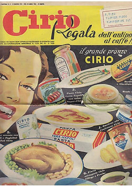 CIRIO REGALA DALL ANTIPASTO AL CAFFÈ catalogo premi 1951 Mondadori
