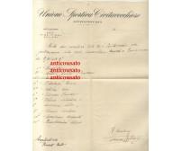 CIVITAVECCHIESE calcio lettera intestata 1932 Autografo Enrico Mattioli partita