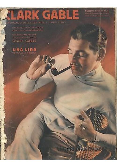 CLARK GABLE SUPPLEMENTO MENSILE CINEMA ILLUSTRAZIONE n.8 agosto 1934 Topolino