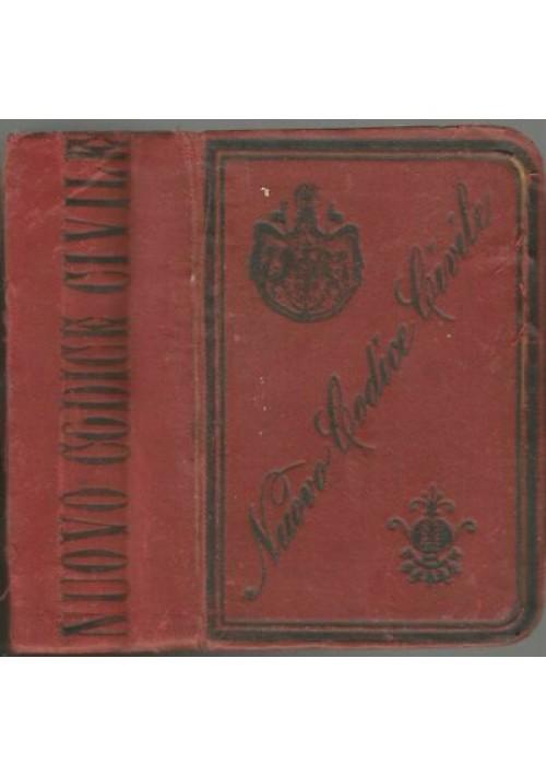CODICE CIVILE PER IL REGNO D'ITALIA  regio decreto 20 giugno 1865 - Bietti 1894