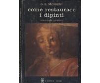 COME RESTAURARE I DIPINTI manuale pratico di G. B. Nicodemi 1968 Il Castello