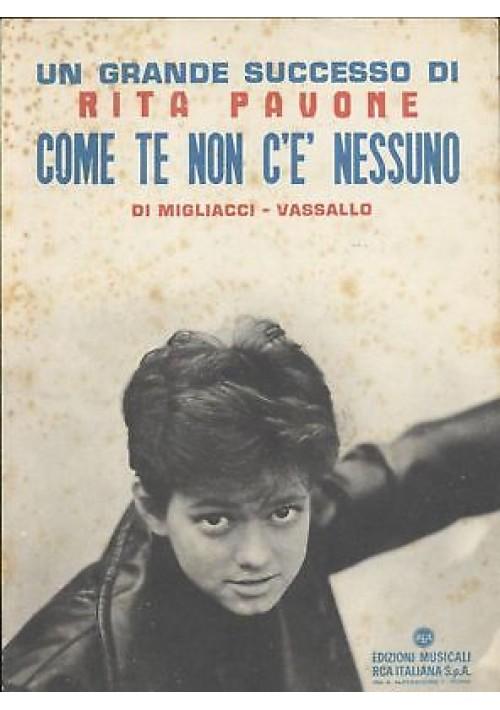 COME TE NON C è NESSUNO di Rita Pavone spartito canto mandolino fisarmonica1963