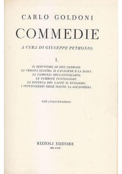 COMMEDIE CARLO GOLDONI 2 volumi completa 1958 Rizzoli a cura Giuseppe Petronio