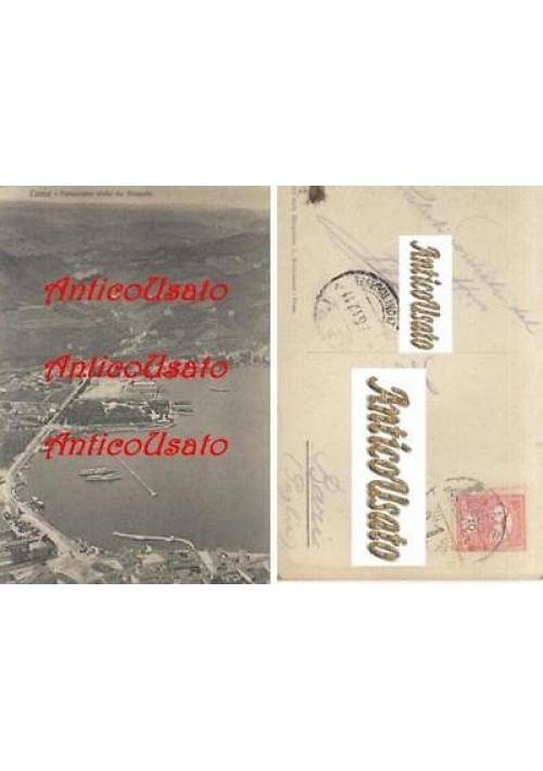 COMO PANORAMA VISTO DA BRUNATE cartolina 1911 originale