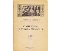 COMPENDIO DI TEORIA MUSICALE Letterio Ciriaco I corso n.4 Edizioni Leci 1935