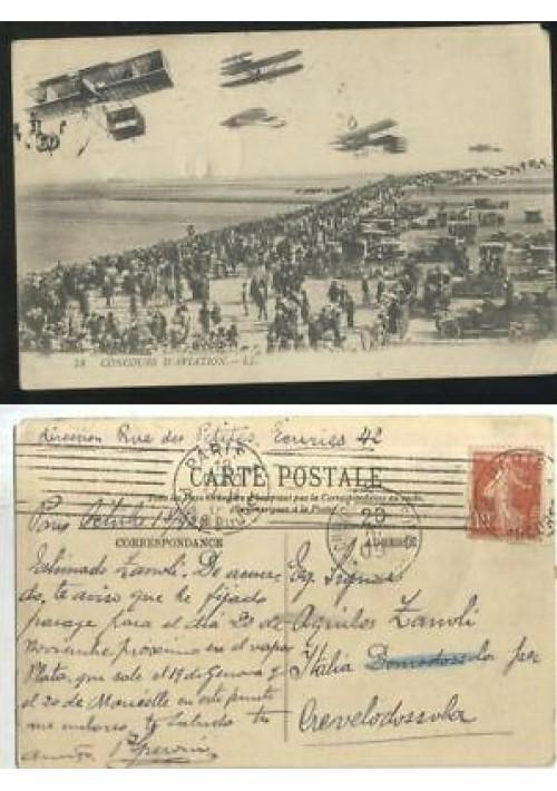 CONCOURS D'AVIATION LL cartolina viaggiata 1909 carte postale postcard
