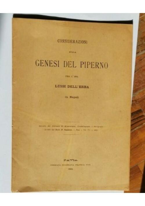 CONSIDERAZIONI SULLA GENESI DEL PIPERNO di Luigi Dell'Erba 1892 petrografia