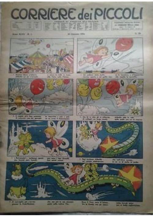 CORRIERE DEI PICCOLI 4 numeri 1954 anno 46 numeri 5 11 46 50 giornalino fumetti