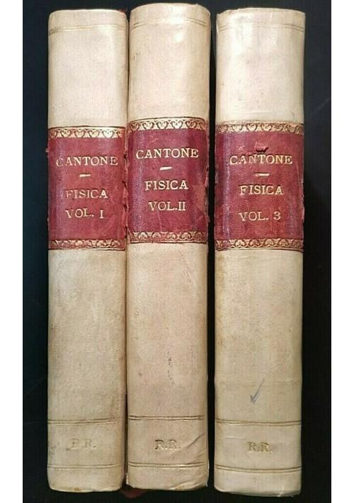 CORSO DI FISICA SPERIMENTALE 3 volumi di Michele Cantone 1923 Gennaro Majo libri