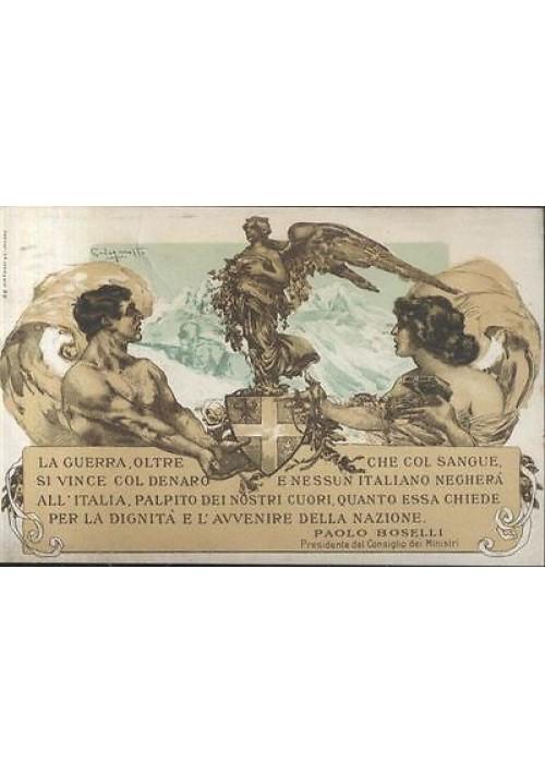 CREDITO ITALIANO cartolina CODOGNATO originale I guerra mondiale 1917 PRESTITO