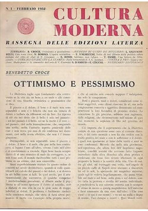 CULTURA MODERNA rivista 1952 – 1959 annate complete Laterza