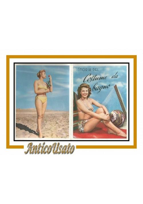 Calendarietto da Barbiere STORIA DEL COSTUME DA BAGNO 1958 originale Vintage
