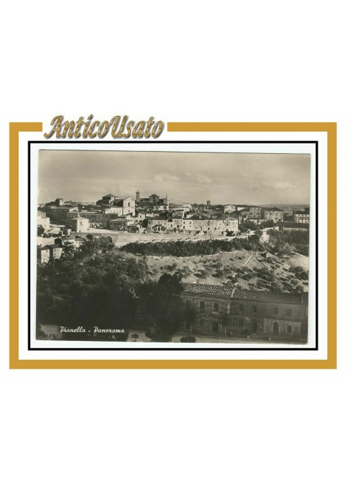 Cartolina Pianella Panorama  Viaggiata lucida bianco nero postcard carte postale