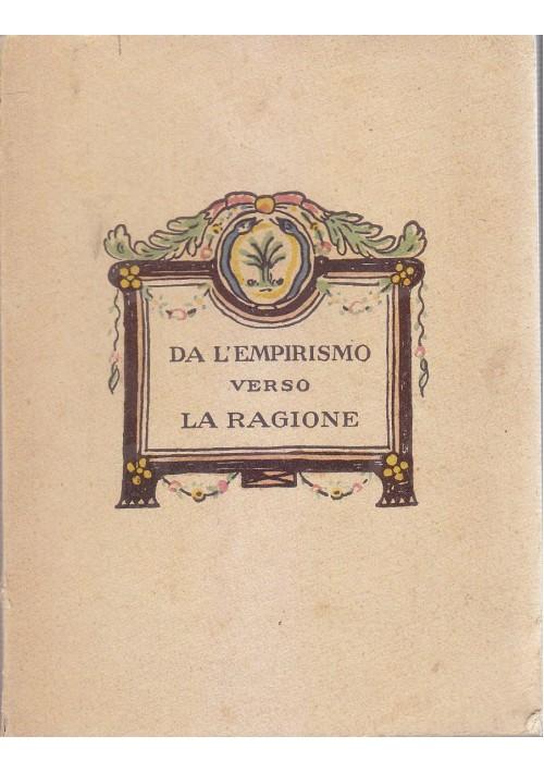 DA L EMPIRISMO VERSO LA RAGIONE di Mousson Lanauze 1920 Piperazine Midy *