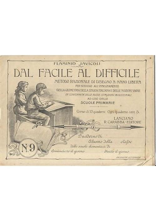 DAL FACILE AL DIFFICILE Flaminio Javicoli metodo razionale disegno mano libera