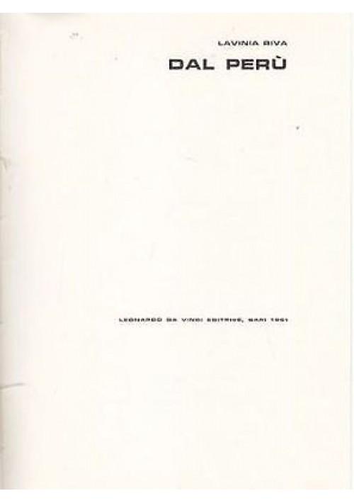 DAL PERÙ di Lavinia Riva 1961 Leonardo da Vinci editore ILLUSTRATO